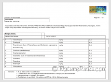 NaturePinks Residue Test Report